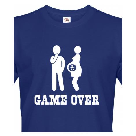 Vtipné tričko pro budoucí tatínky s potiskem Game over 2 BezvaTriko