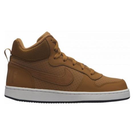 Nike COURT BOROUGH MID GS hnědá - Dětské volnočasové boty
