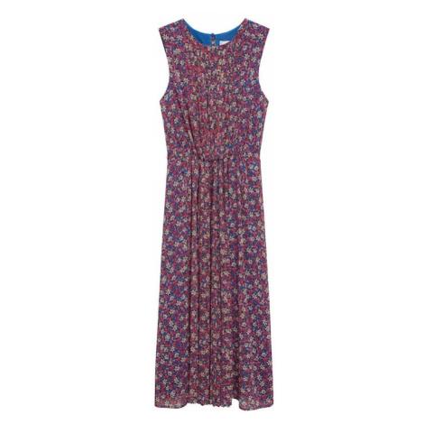 MANGO Šaty 'Mina' pink / žlutá / modrá