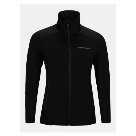 Mikina Peak Performance W Vertical Mid Zip Jacket - Černá