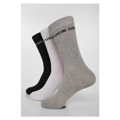 Mr. Tee Fuck Off Socks 3-Pack black/grey/white