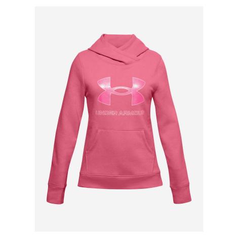 Rival Fleece Logo Mikina dětská Under Armour Růžová