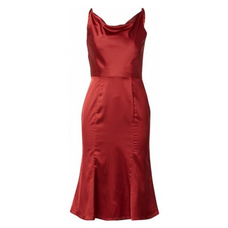 Chi Chi London Šaty 'Roxy' rezavě červená