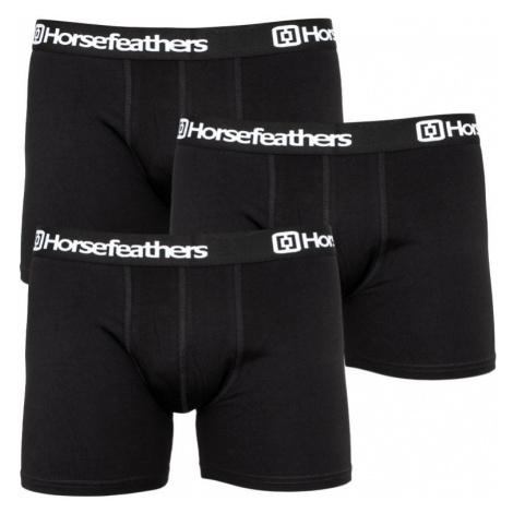 3PACK pánské boxerky Horsefeathers černé (AM067A)