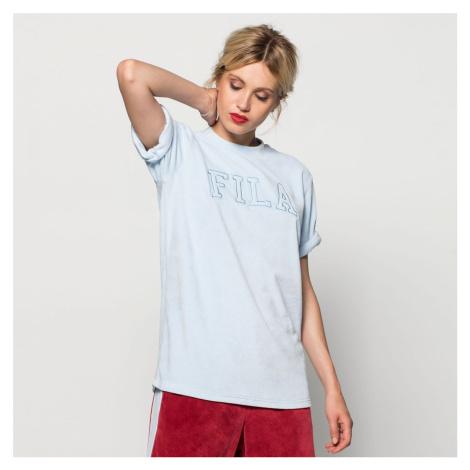 Sametové světle modré tričko Fila