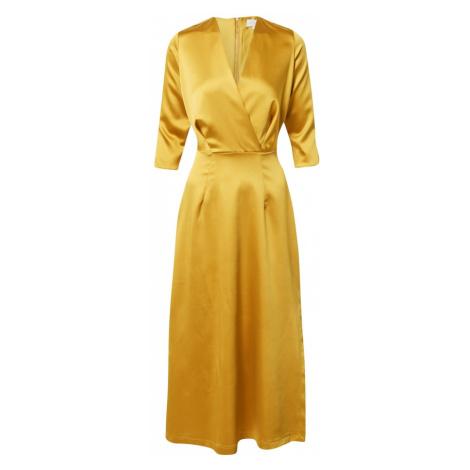 Closet London Koktejlové šaty zlatě žlutá