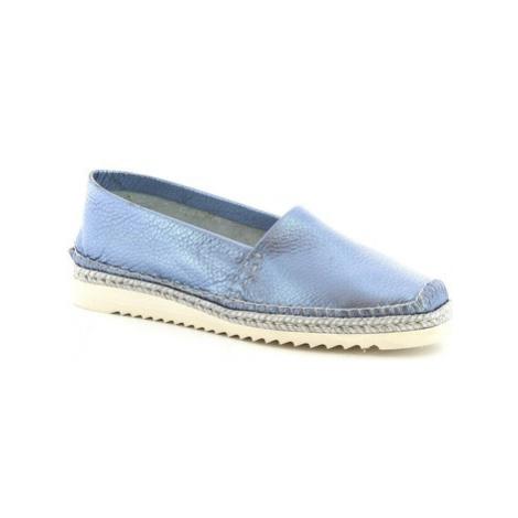 Leonardo Shoes 010 PERLATO BLEU Modrá