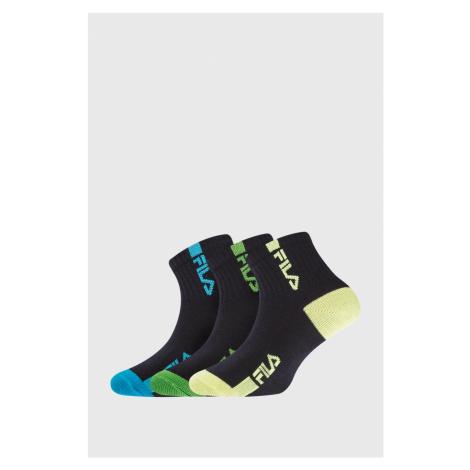 3 PACK dětských ponožek FILA Fluo
