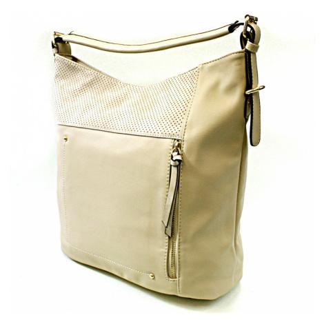 Béžová moderní kabelka na rameno Aksha Tapple