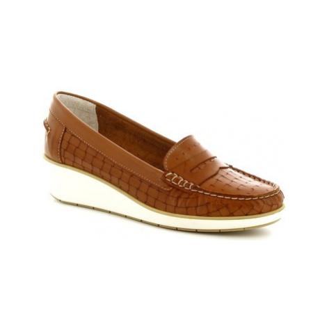 Leonardo Shoes 5023 VITELLO CUOIO Hnědá