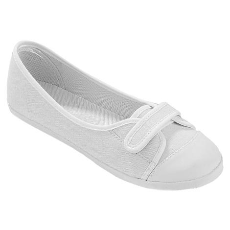 Blancheporte Plátěné baleríny bílá/bílá
