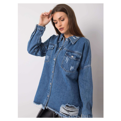 Blue denim shirt Fashionhunters