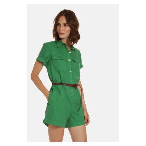 Overal La Martina Woman Short Dresses Light Line - Zelená