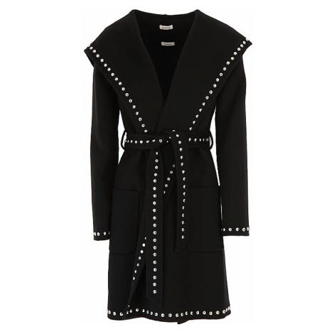 Černý vlněný ručně šitý kabát - P.A.R.O.S.H