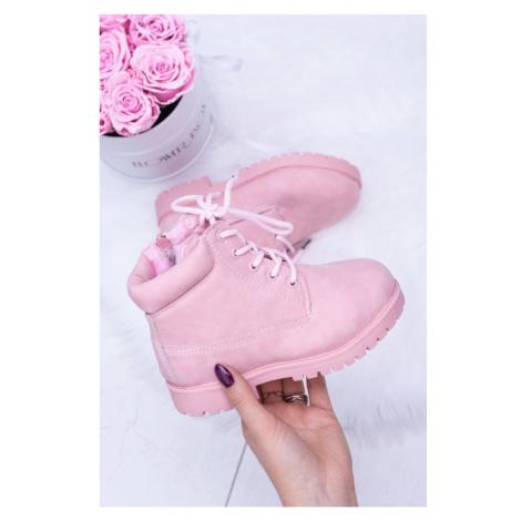 Powder Pink Warm Children's Trapers Boots Dexter
