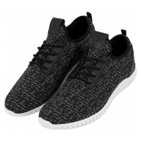 Knitted Light Runner Shoe - black/grey/white