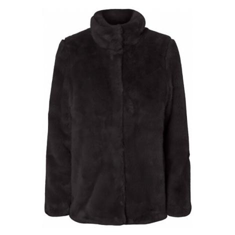 Vero Moda Dámský kabát VMMINK FAUX FUR JACKET Black