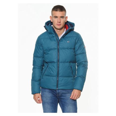 Tommy Jeans pánská zelená zimní bunda Essential Tommy Hilfiger