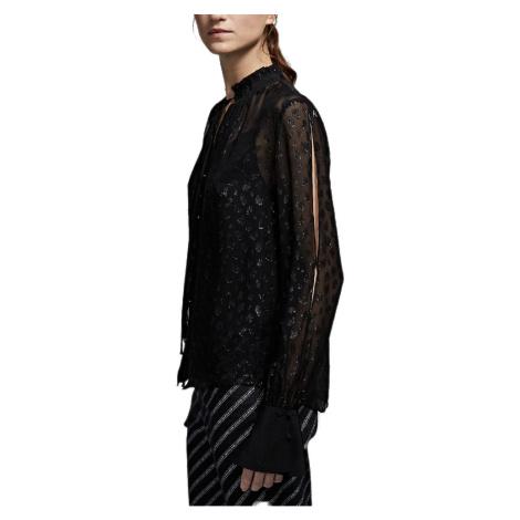 Černá hedvábná košile - KARL LAGERFELD