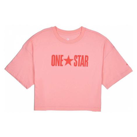 TRIKO CONVERSE One Star Printable Boxy W - růžová
