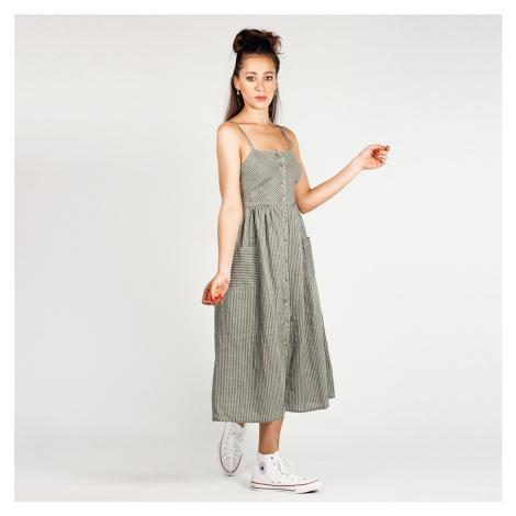 Khaki zelené midi šaty na knoflíky NA-KD