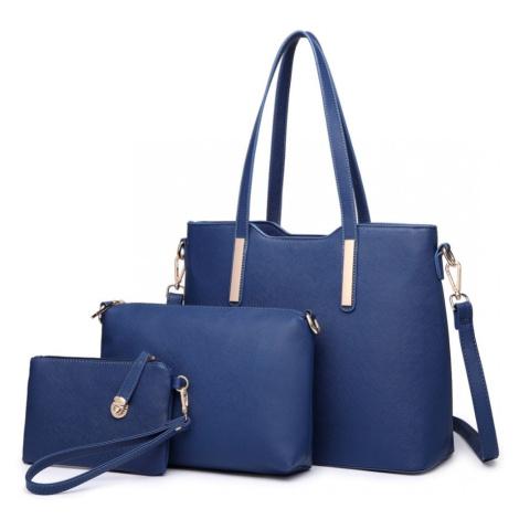 Modrý praktický dámský 3v1 kabelkový set Manmie Lulu Bags