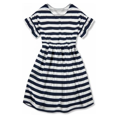 Modro-bílé volné pruhované šaty I. Butikovo
