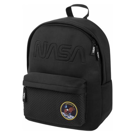 Černý zipový neoprenový školní batoh pro kluky s motivem NASA