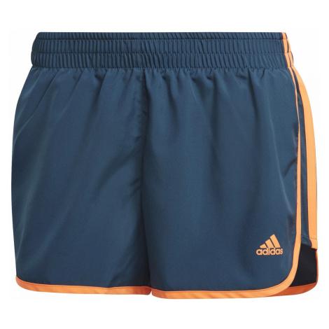 Dámské běžecké šortky adidas Marathon 20 Modrá / Oranžová