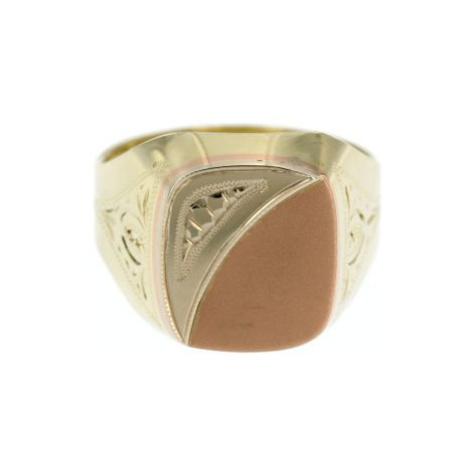Zlatý pánský pečetní prsten 9120