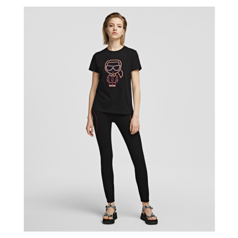 Legíny Karl Lagerfeld Logo Punto Leggings - Černá