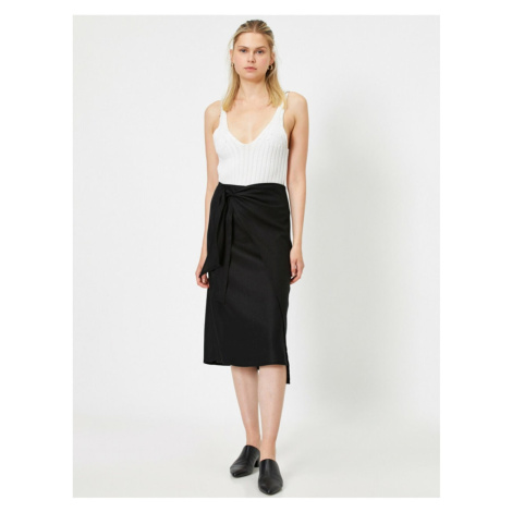 Koton Normal Waist Bagged Midi Skirt