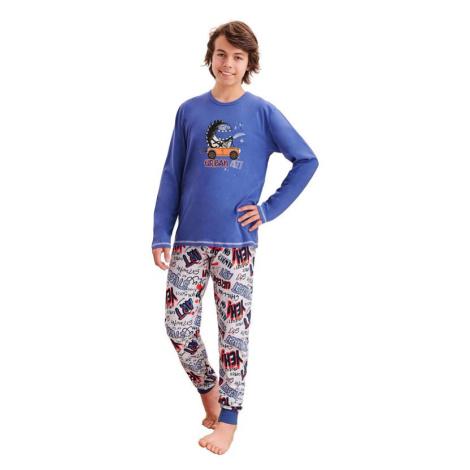 Chlapecké pyžamo Miloš tmavě modré Taro