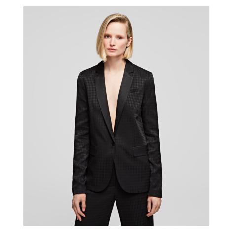 Sako Karl Lagerfeld Jacket W/Karl Head Jacquard - Černá