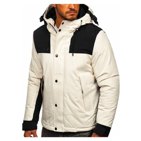 Bílá pánská zimní bunda Bolf J1905 J.STYLE