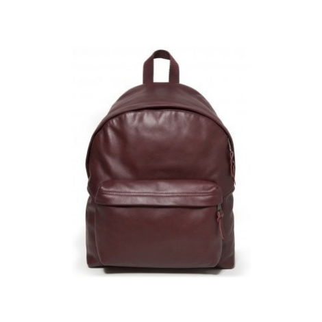 EASTPAK Vínově červený batoh kožený PADDED PAK'R