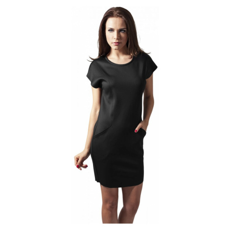 Ladies Scuba Dress - black Urban Classics