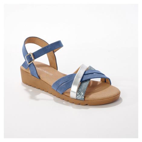 Blancheporte Páskové sandály, modré modrá