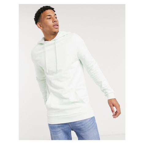 ASOS DESIGN organic longline hoodie in green