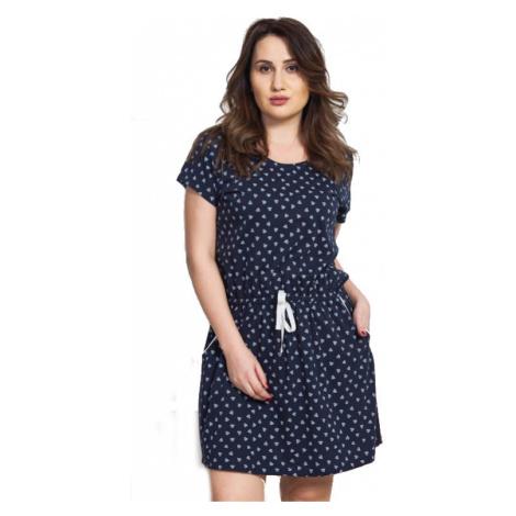 Dámské domácí šaty s krátkým rukávem Vienetta Secret Hana | světle šedá