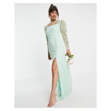 Virgos Lounge Long Sleeve Bridesmaid dress in mint-Green