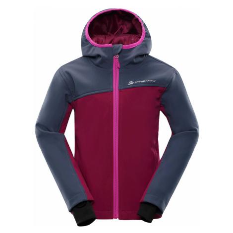Dětská softshellová bunda Alpine Pro NOOTKO INS. - tmavě fialová