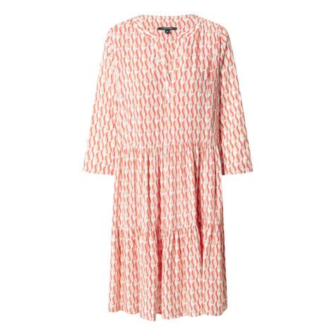 COMMA Šaty oranžová / krémová