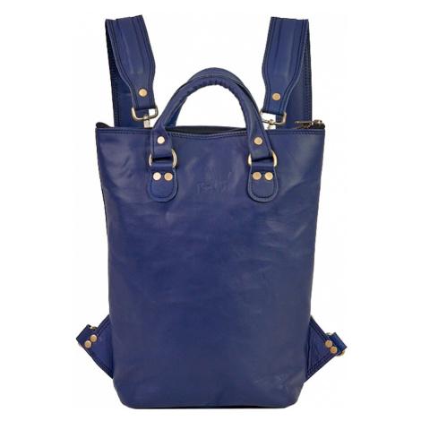 Bagind Ladaya Atmos - Dámský kožený batoh modrý, ruční výroba, český design