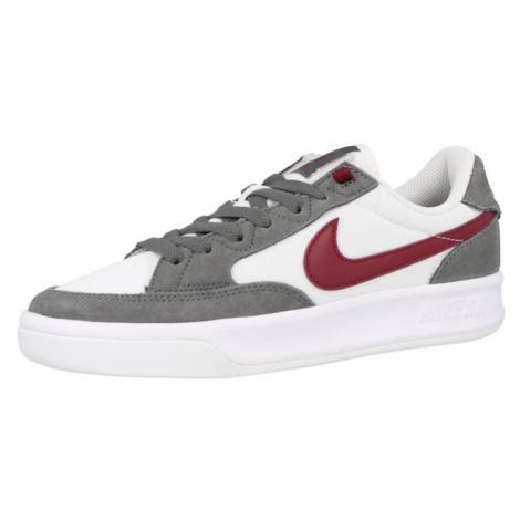 Nike SB Sportovní boty 'Adversary' šedá / bílá / vínově červená