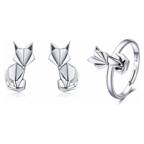 Linda's Jewelry Zvýhodněná sada šperků Foxy Liška Ag 925/1000 IS048