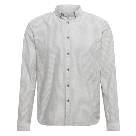 TOM TAILOR DENIM Košile bílá / šedý melír