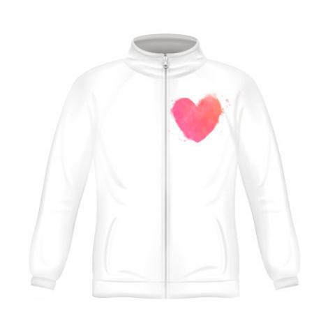 Pánská mikina zip FRUIT watercolor heart