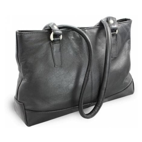 Černá elegantní zipová kabelka z pravé kůže Arya Arwel