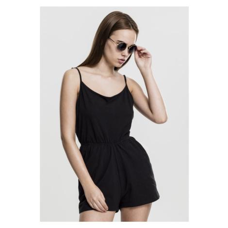 Ladies Short Spaghetti Jumpsuit - black Urban Classics